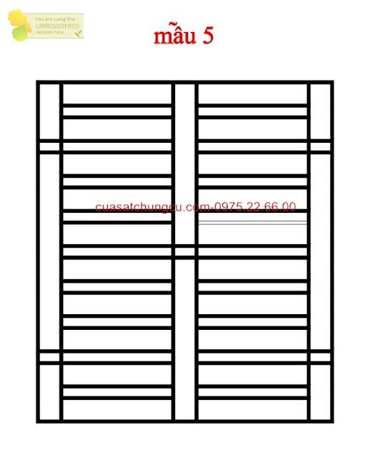 Mẫu thiết kế loại 5 khung cửa sổ an toàn, gọn gàng