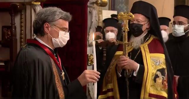 Χειροθετήθηκε Άρχων Οφφικιάλιος o Τσιόδρας από τον Πατριάρχη