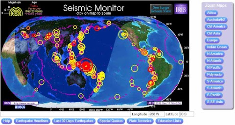 MONITOR SÍSMICO: Seguimiento a los terremotos del mundo