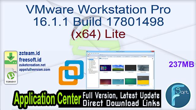 VMware Workstation Pro 16.1.1 Build 17801498 (x64) Lite