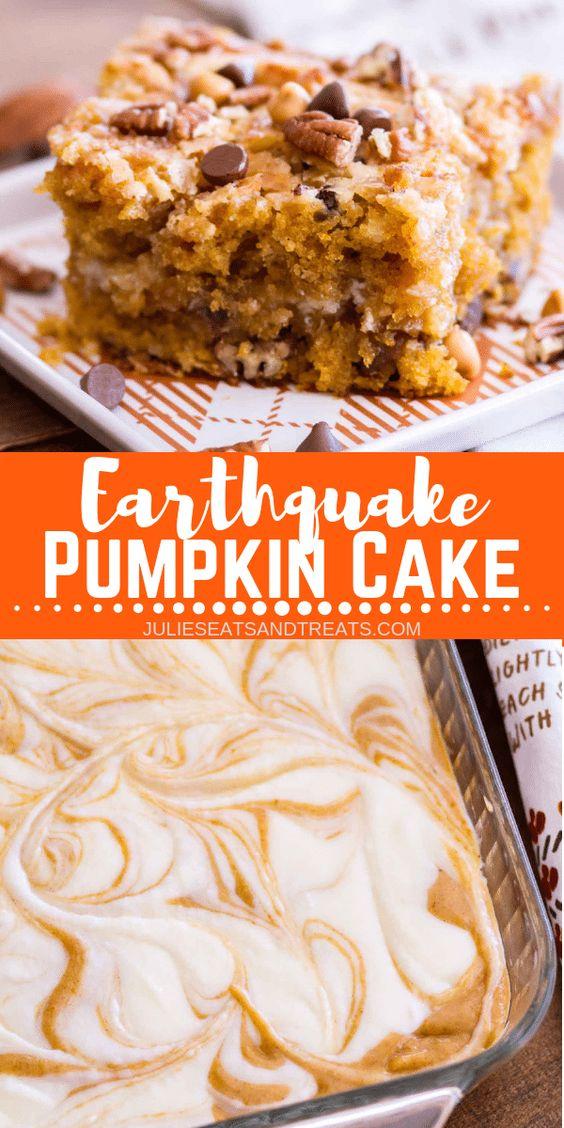 Earthquake Pumpkin Cake Recipe