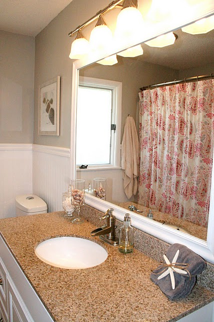 pink tile bathroom remodelaholic no more pink tile bathroom remodel 13976