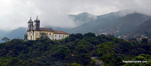 Igreja colonial em Ouro Preto, Minas Gerais
