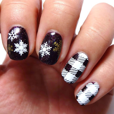 Purple Winter Nails