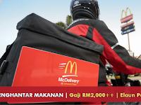 Jawatan Kosong Penghantar Makanan McDonald's Malaysia - Gaji RM2,000++ | Elaun Motor, Petrol, Lain-Lain