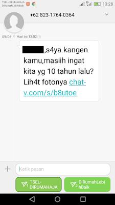 Hati-Hati Smartphone Kena Spam chat-v com dari SMS