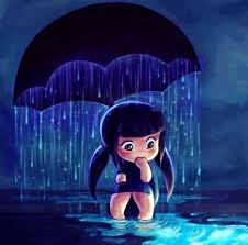 بنت صغيرة تحت الامطار - شتاء 2020