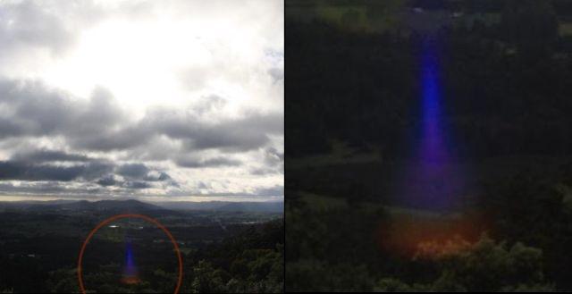 Mysterious blue beam in the sky lights up the trees in Tasmania, Australia  Blue-beam-sky-tasmania-australia%2B%25281%2529