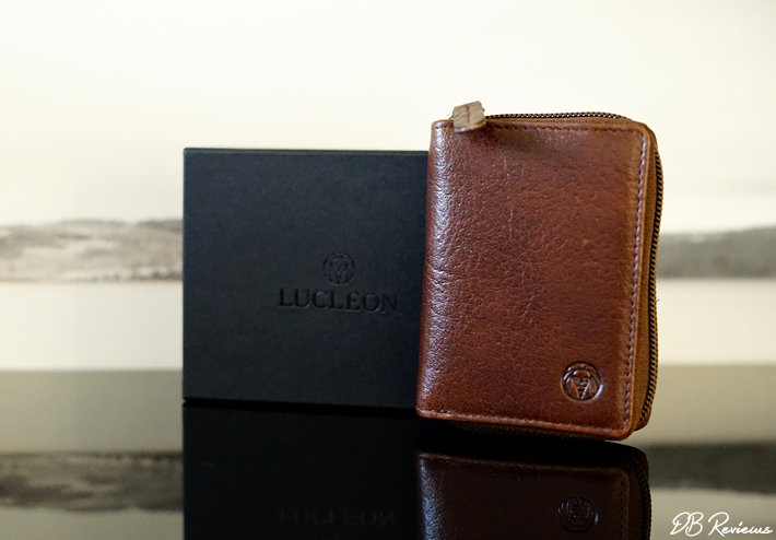 Brown California Leather Card Holder from Lucleon