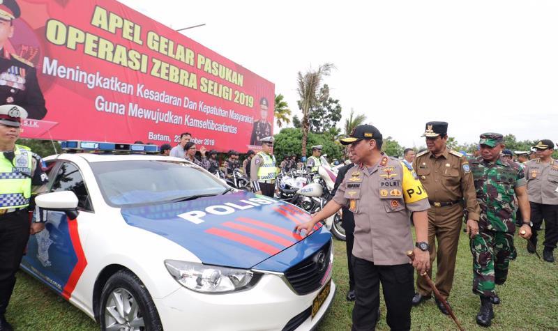 Kapolda Pimpin Apel Gelar Pasukan Operasi Zebra Seligi 2019