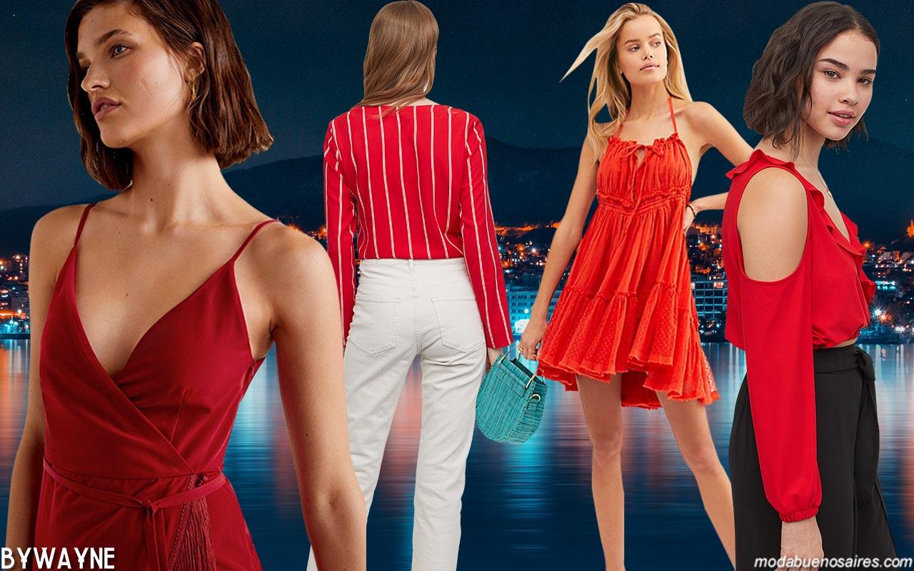 Color rojo: moda colores primavera verano 2020.