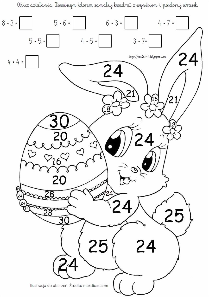 Blog Edukacyjny Dla Dzieci Kolorowanka Matematyczna Tabliczka Mnozenia W Zakresie 30