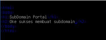 HTML Script Subdomain Portal