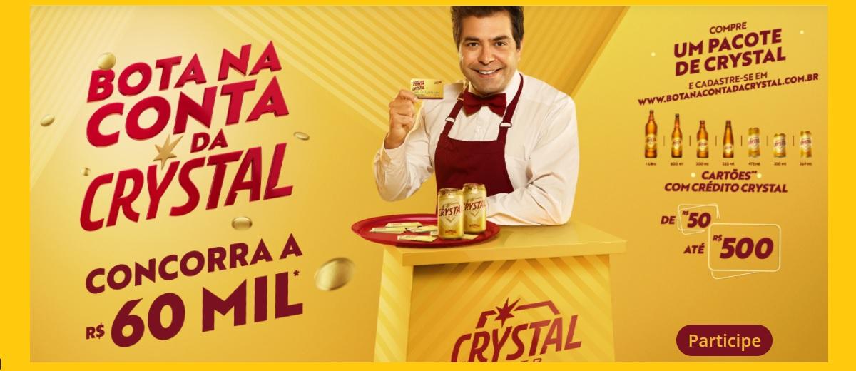 Participar Promoção Cerveja Crystal Bota na Conta 2021 - Cadastrar, Prêmios e Ganhadores 60 Mil