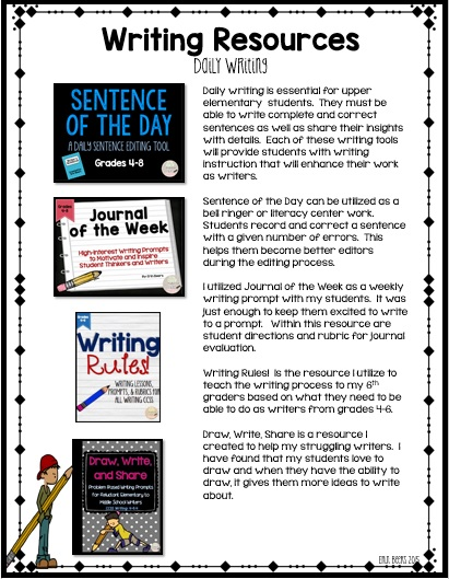Daily 5: Tried and True Resources for Grades 4-6