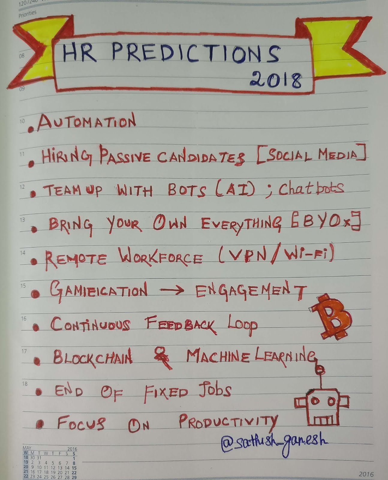 The Recruiter's Today: Sketchnotes: HR Predictions in 2018