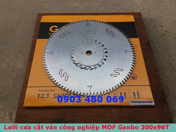 Bộ lưỡi cưa cắt ván công nghiệp MDF MFC GANBO 300X96T