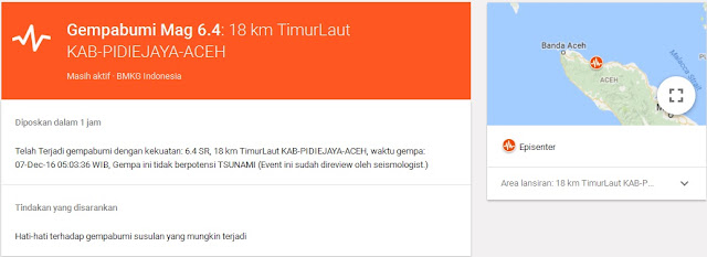 Informasi Terkini Terkait Bencana Gempa Aceh 2016 Pro Kontra