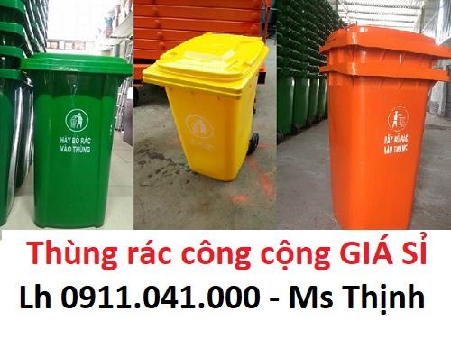 Thùng rác giá rẻ nhựa HDPE lh 0911.041.000