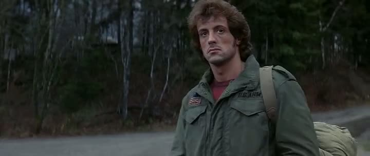 Screen Shot Of Rambo 1 First Blood (1982) Dual Audio Movie 300MB small Size PC Movie