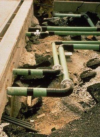 Buried utilities like water supply pipes and sewage get naked due to differential settlement of foundation