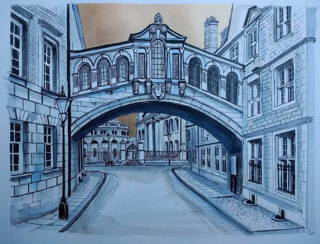 09-Bridge-of-Sighs-Oxford-Demi-Lang-Architectural-Drawings-of-Interesting-Buildings-www-designstack-co