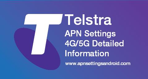 Telstra APN Settings 5G