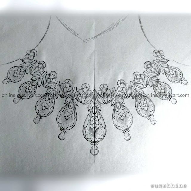 22k gold necklace designs