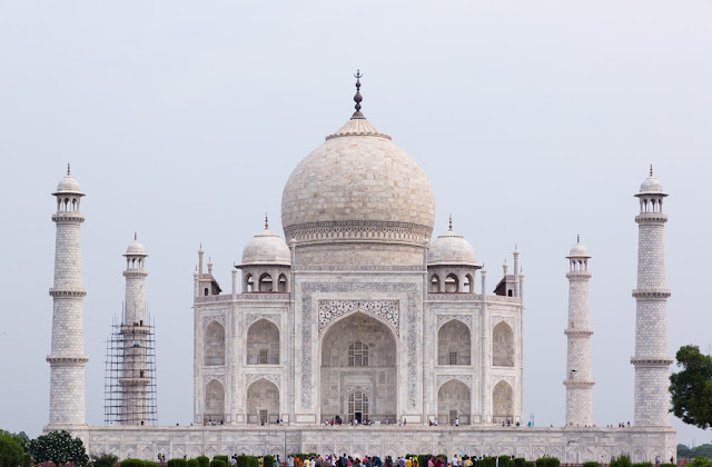 taj mahal view agra unesco heritage site india