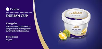 Es Krim Durian Produk AICE Indonesia