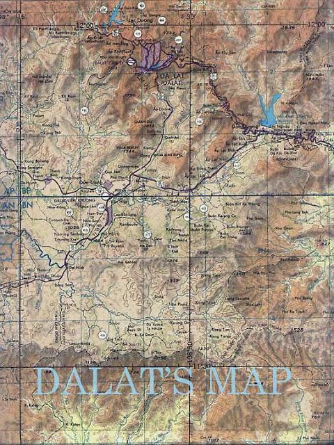 1. Bản đồ Đà Lạt ngày xưa - được mệnh danh là thiên đường nơi hạ giới