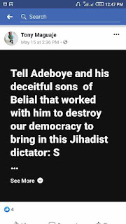 Facebook User Launches Online Protest Against Pastor Adeboye Tagged #ShameOnAdeboye. (See Why)