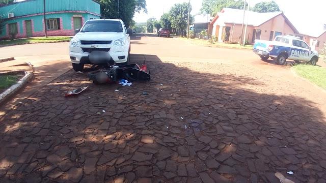 ITACARUARÉ -  Choque entre moto y camioneta dejó una mujer fallecida