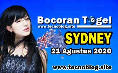 Bocoran Togel Sydney 21 Agustus 2020