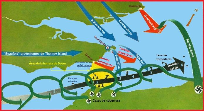 Mapa de la Operación Cerbero