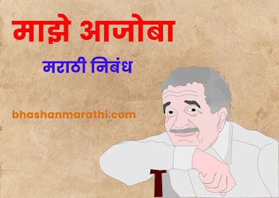माझे आजोबा निबंध मराठी majhe ajoba essay in marathi