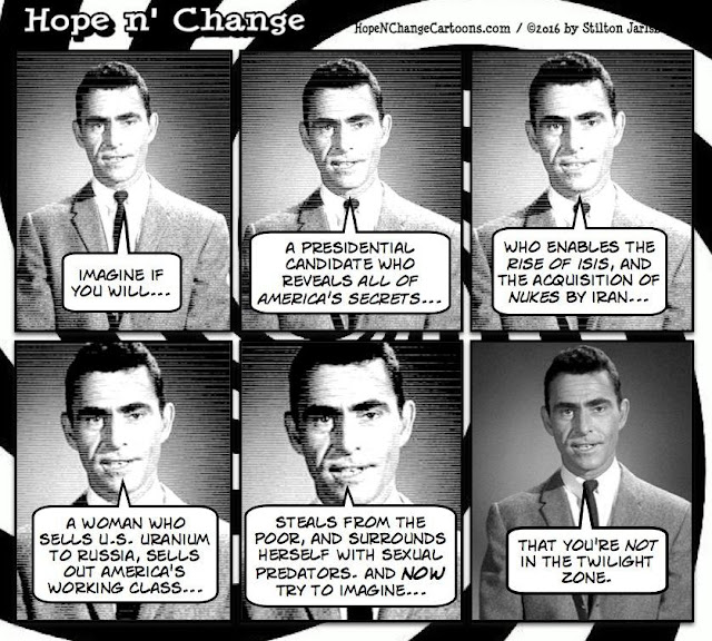 obama, obama jokes, political, humor, cartoon, conservative, hope n' change, hope and change, stilton jarlsberg, hillary, twilight zone, private server, hacked
