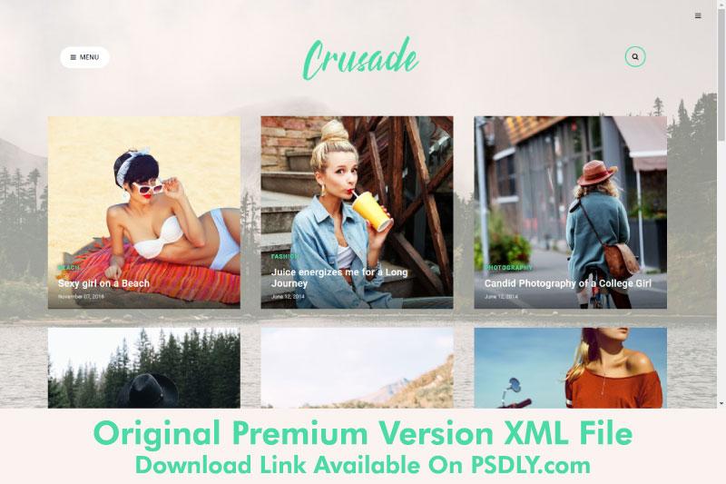 Crusade Photography Blogger Template Premium Free
