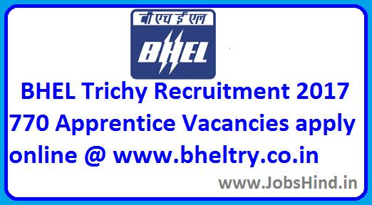 BHEL Trichy Recruitment 2017
