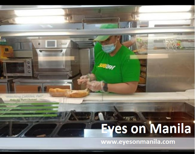 Subway sandwich making
