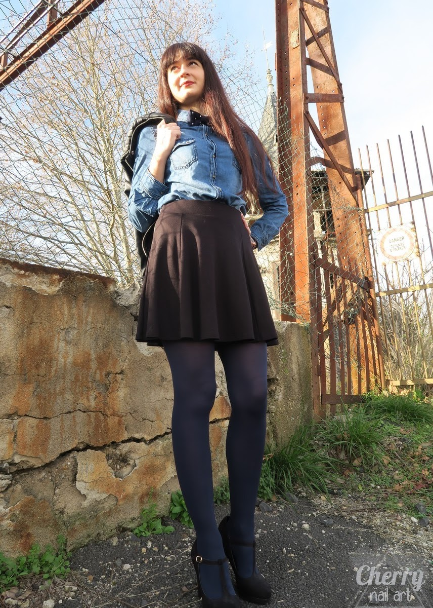 blog-mode-look-chemise-jean-perfecto-noeud-papillon