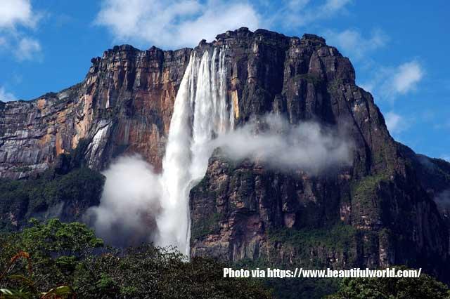 Daftar Air Terjun Tertinggi Di Dunia,