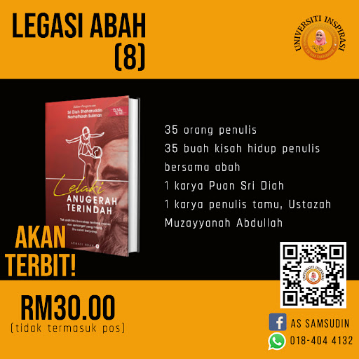 Pre Order Buku Antologi Legasi Abah (8) Lelaki Anugerah Terindah