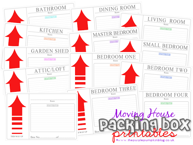 Moving House Packing Box Label Printables