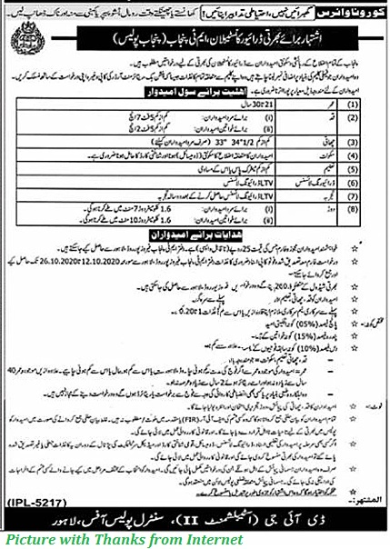 Punjab Police Jobs 2020 - Latest Constables and Lady Constables Jobs in Punjab Police Latest October - 2020