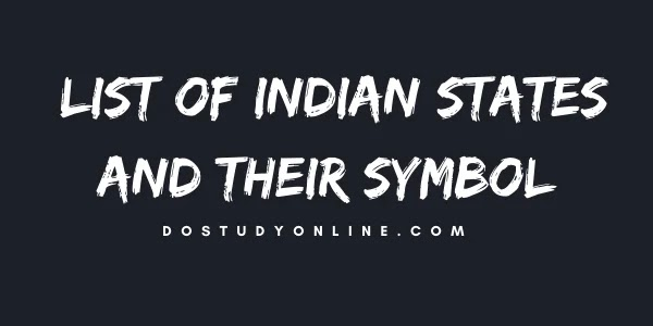 List Of Indian States And Their Symbol
