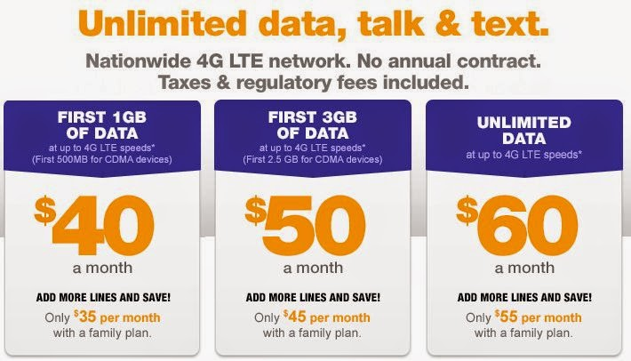 what are the best no contract cell phone plans