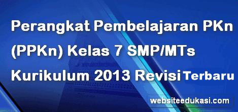 Perangkat Pembelajaran Pkn Kelas 7 K13 2020 2021 Websiteedukasi Com