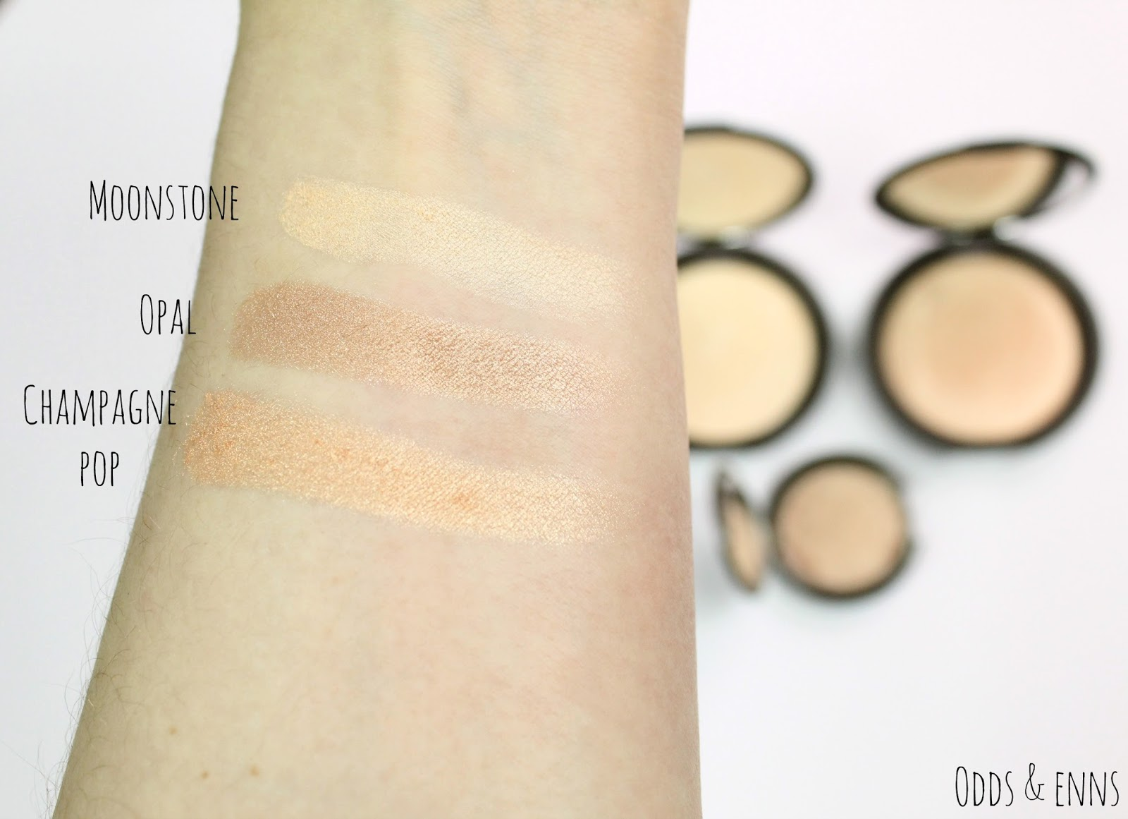 Becca Shimmering Skin Perfector Pressed Comparison & Swatches