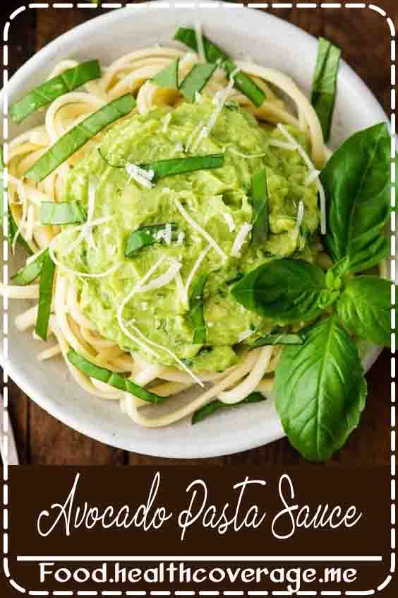 This easy, healthy and deliciously creamy Avocado Pasta Sauce recipe is made with 5 ingredients and is ready in under 5 minutes! This no-cook sauce is made in the Vitamix blender and is perfect to serve over noodles, zucchini noodles, rice, or your favorite veggies!